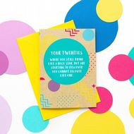 Bettie Confetti 'Your Thirties - Having Babies' Card
